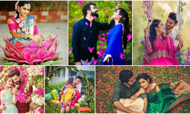 Love story shot – Bride and groom in a nice outfits