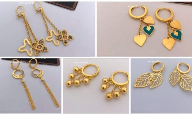 Latest light weight gold earrings collection