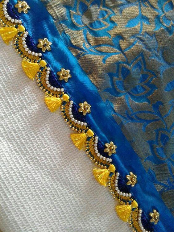 Simple Pattu And Silk Saree Kuchu Design Simple Craft Ideas