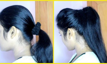 How to make voluminous ponytail in 2 minutes