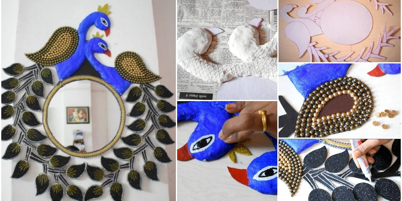 How to make peacock wall hanging