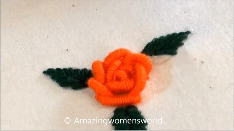 Bullion Rose Stitch