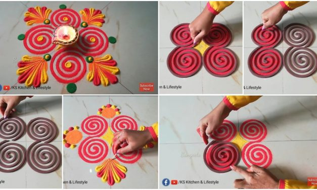 Rangoli designs ufsing coils for beginners