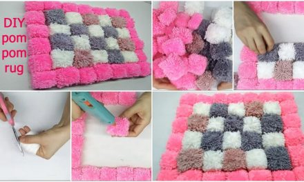 How to make easy pom pom rug