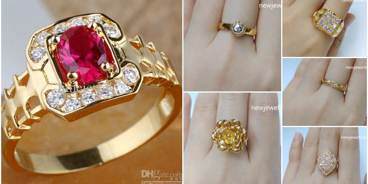a3d773970 Latest designer gold rings with stone - Simple Craft Ideas