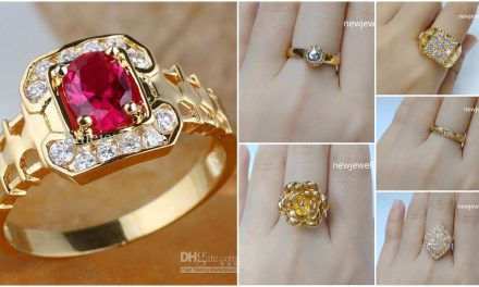 Latest designer gold rings with stone