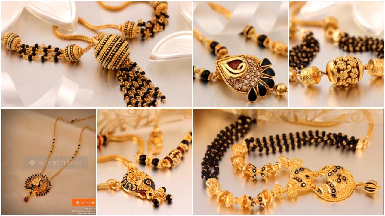 Beautiful gold mangalsutra designs
