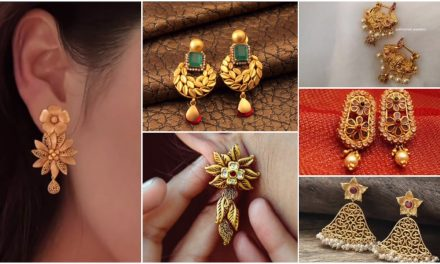 Daily wear earrings design in gold