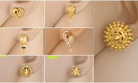 Stylish gold ear tops designs