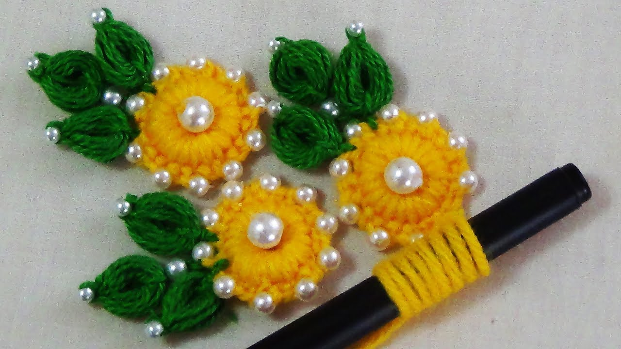 Easy flower embroidery trick