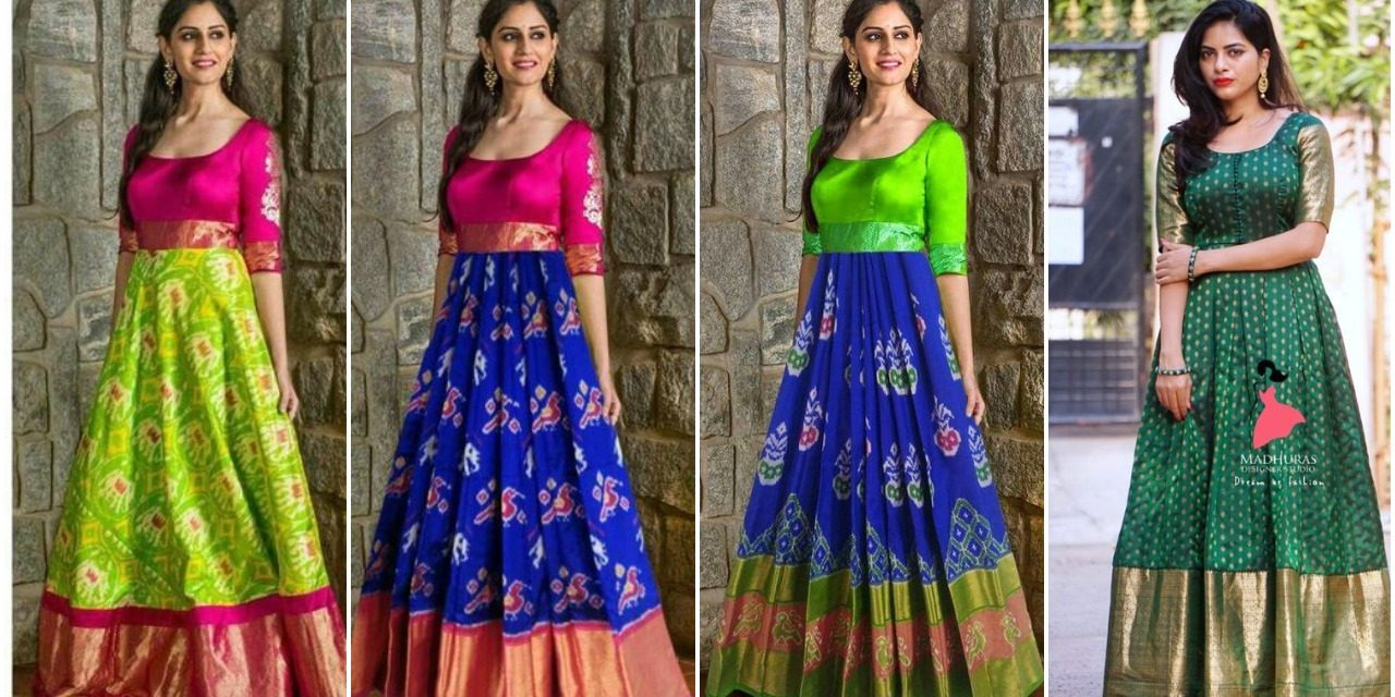 Gowns and dress ideas from old sarees