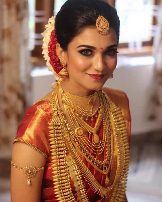 Wedding Hairstyle For Kerala Bride: Best Kerala Bride Images
