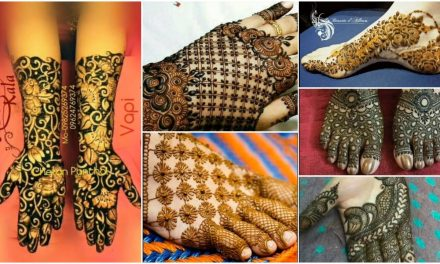 Newest bridal mehndi designs for hands and feet