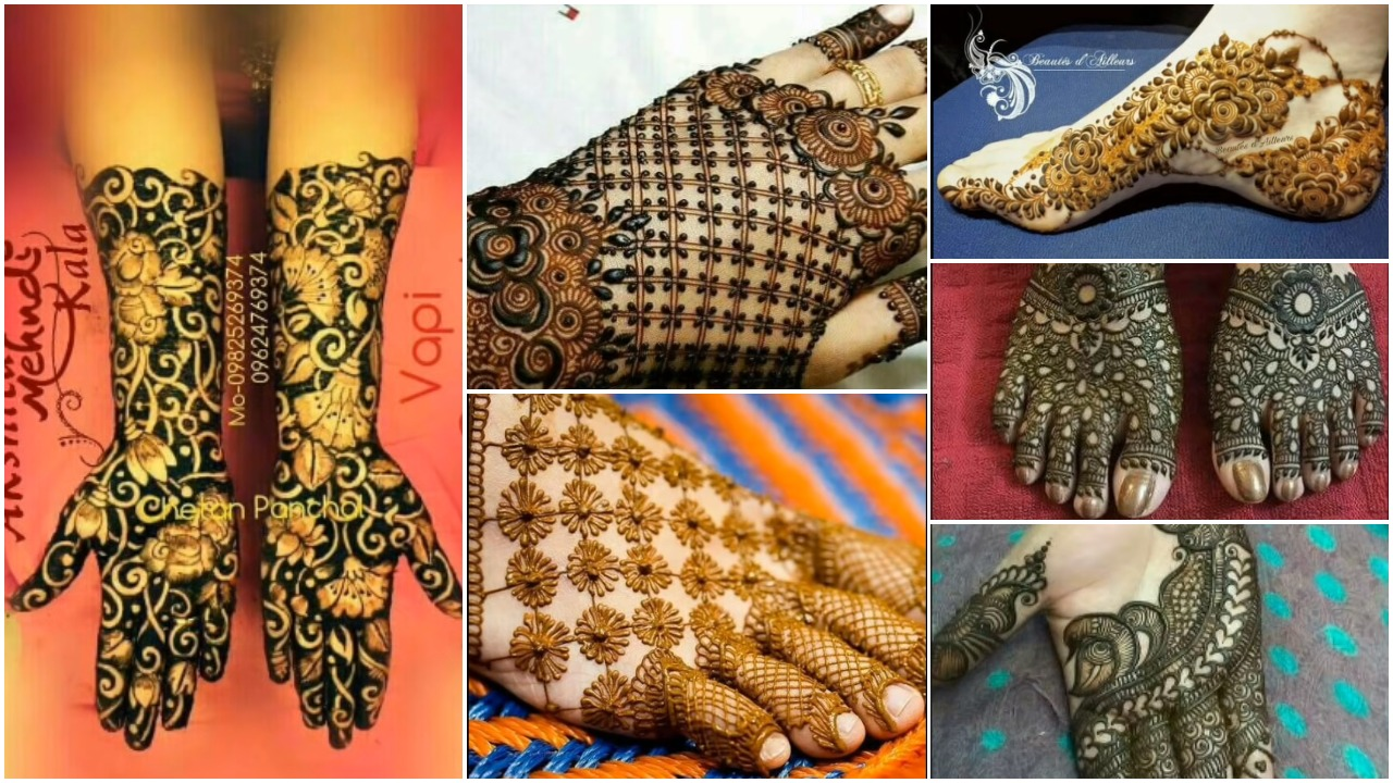 Newest bridal mehndi designs