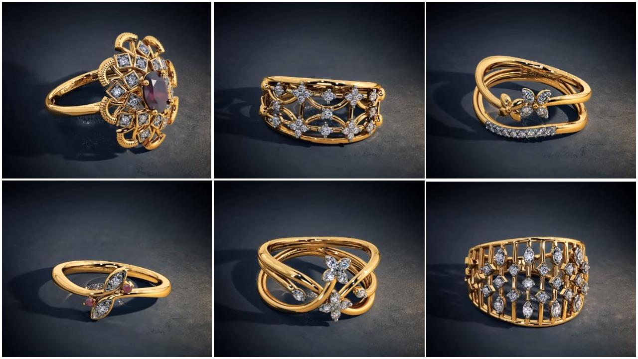 Designer gold ring designs for female
