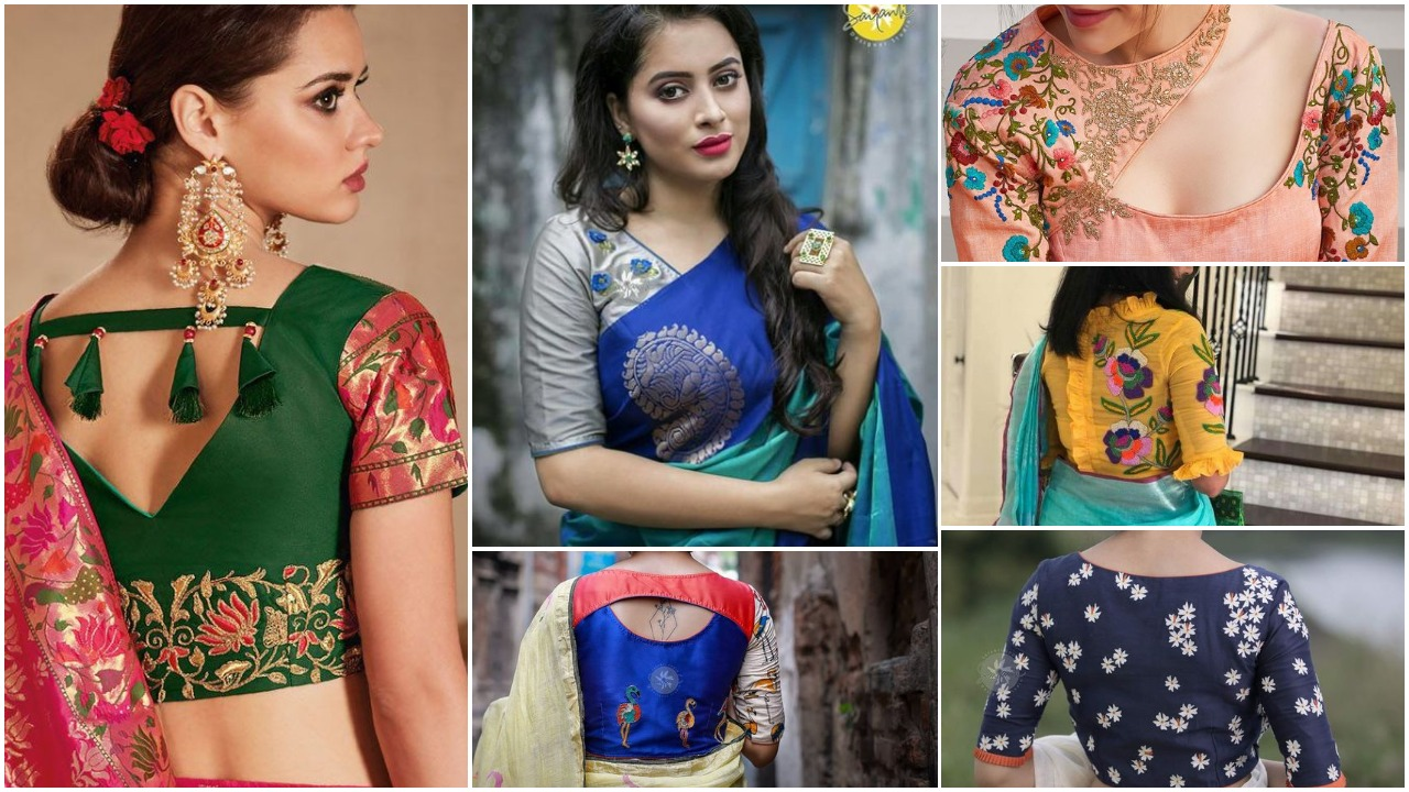 Best stunning latest saree blouse