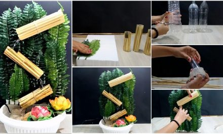 How to make bamboo fountain using bottles and reeds