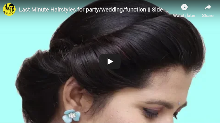 Last minute hairstyles for party