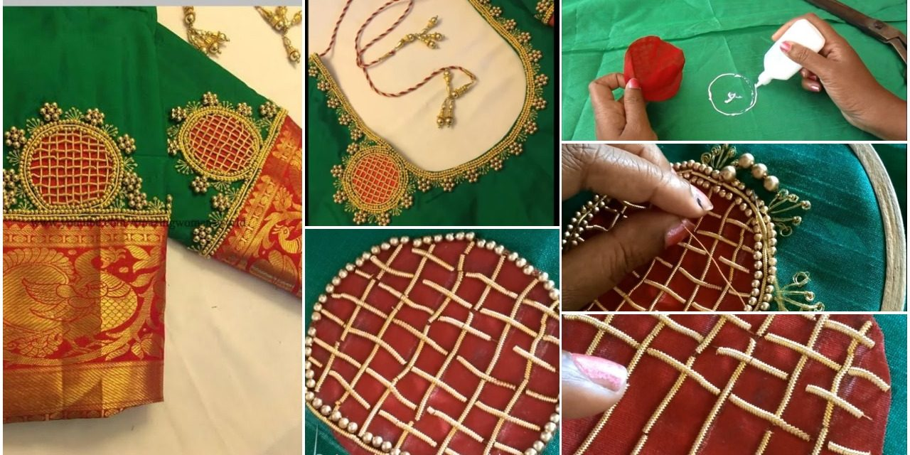 Most beautiful zardosi chex making for blouse