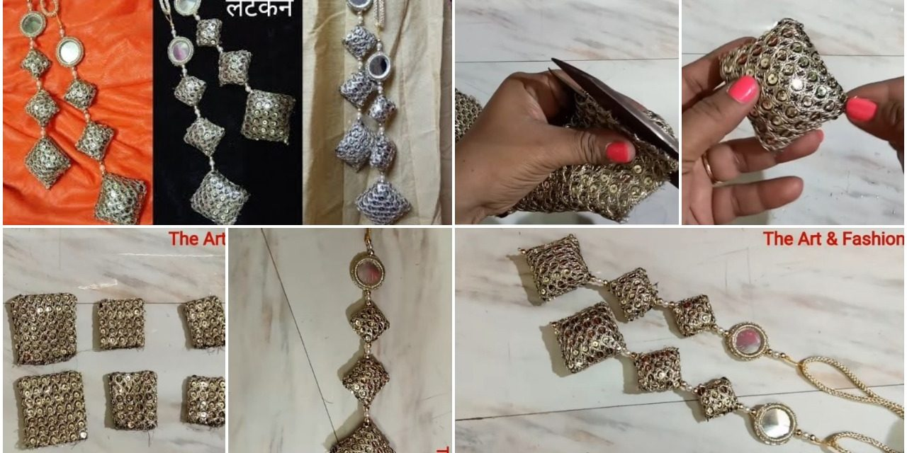 Make fabric latkan for party wear designer lehenga and blouse