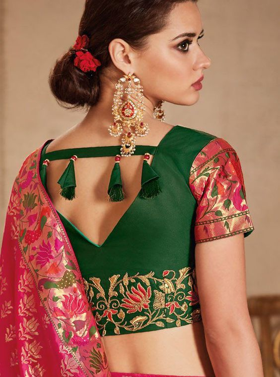 Best Stunning Latest Saree Blouse Neck Design Simple Craft Ideas