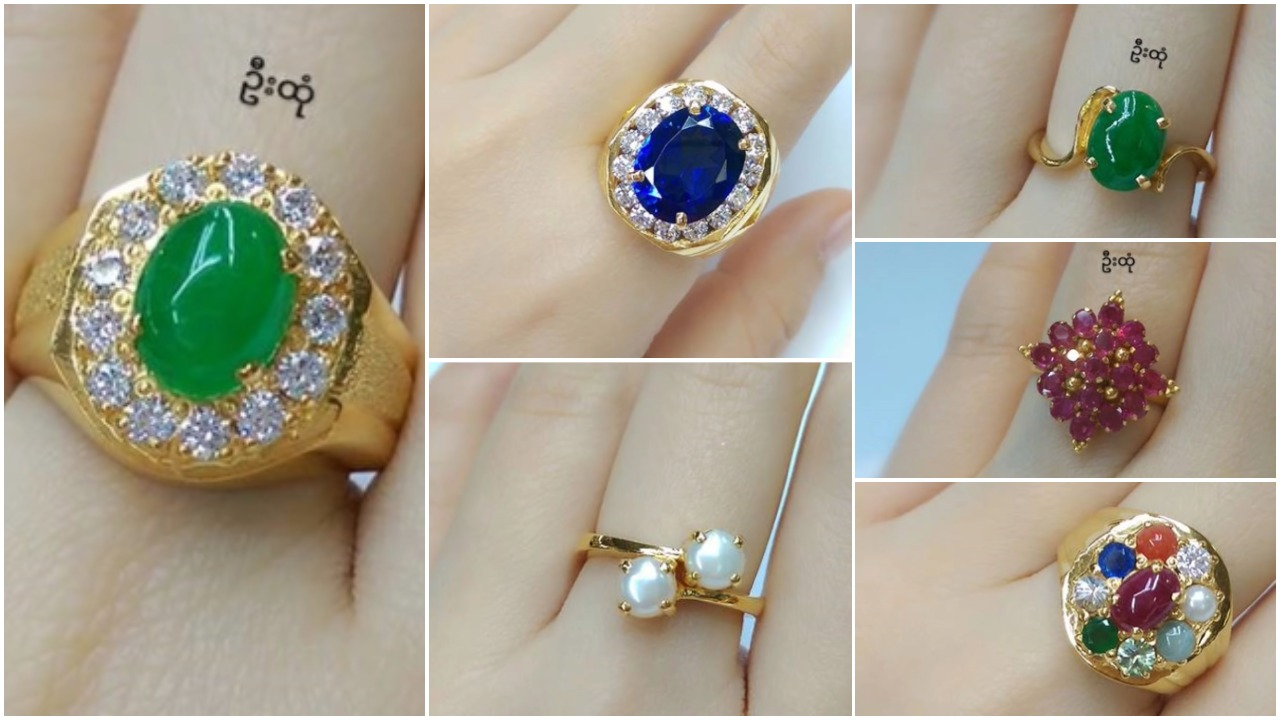 Latest gold stone ring designs