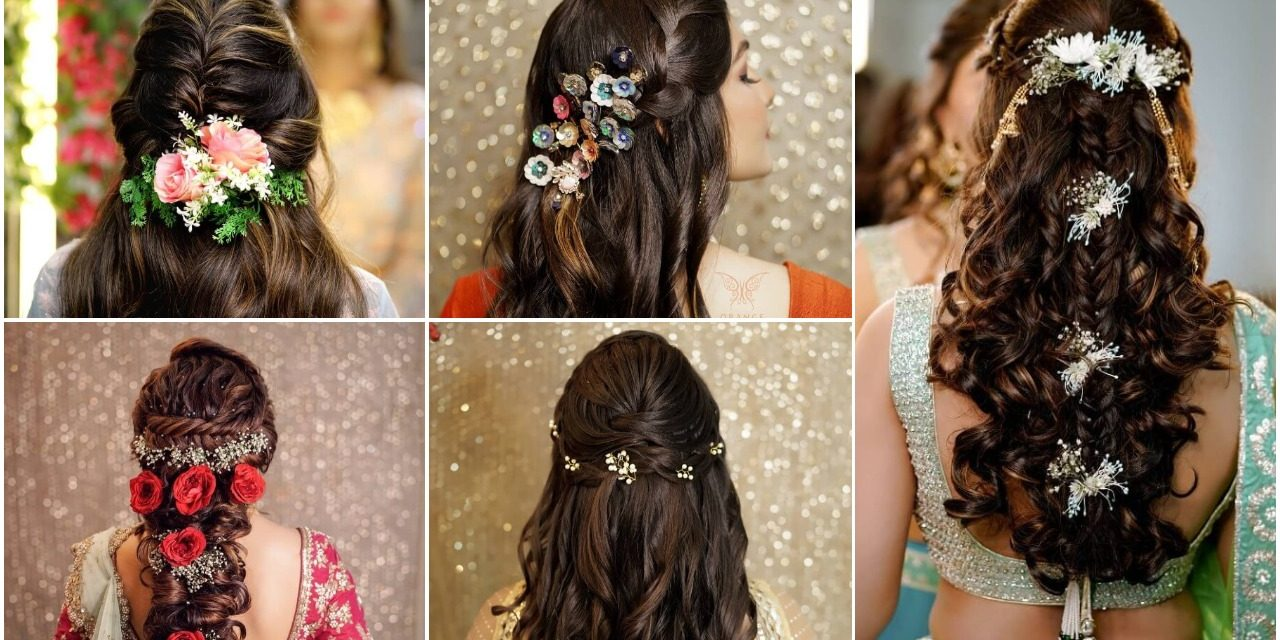 Pretty bridesmaids wedding hairstyles for long hair