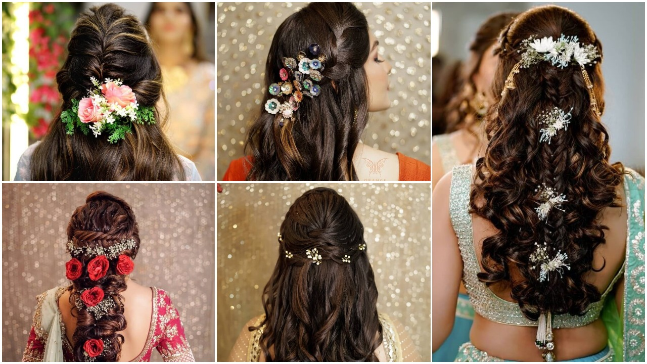 Pretty bridesmaids wedding hairstyles