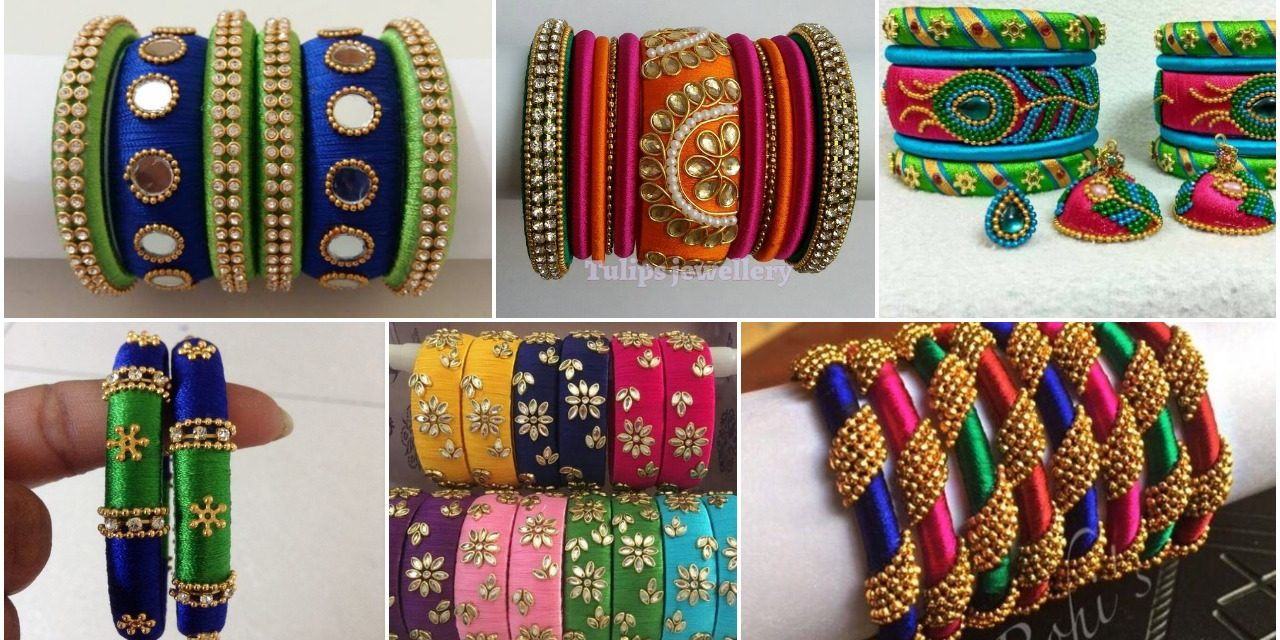 Elegant silk thread bangles designs