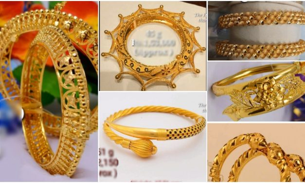 Trendy gold bangle designs for female
