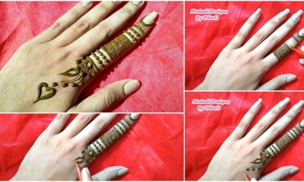Most stylish finger mehndi design for hand