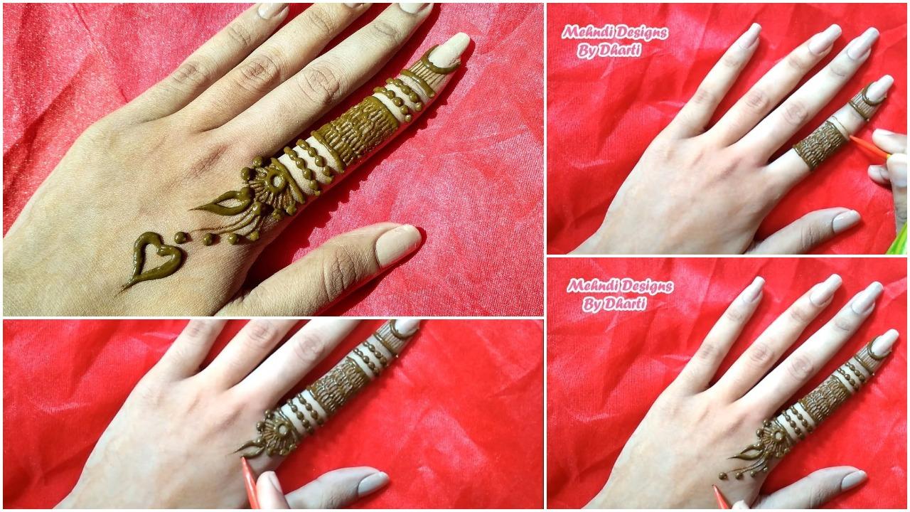 Most Stylish Finger Mehndi Design For Hand Simple Craft Ideas
