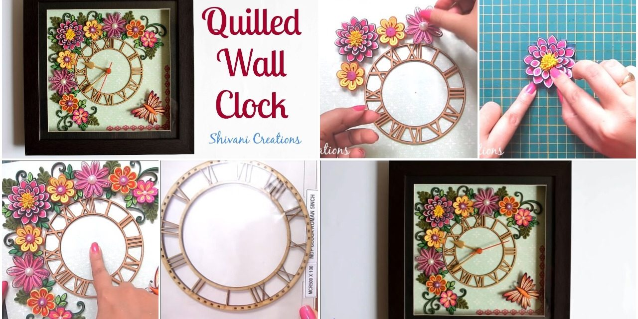 Quilled wall hanging watch