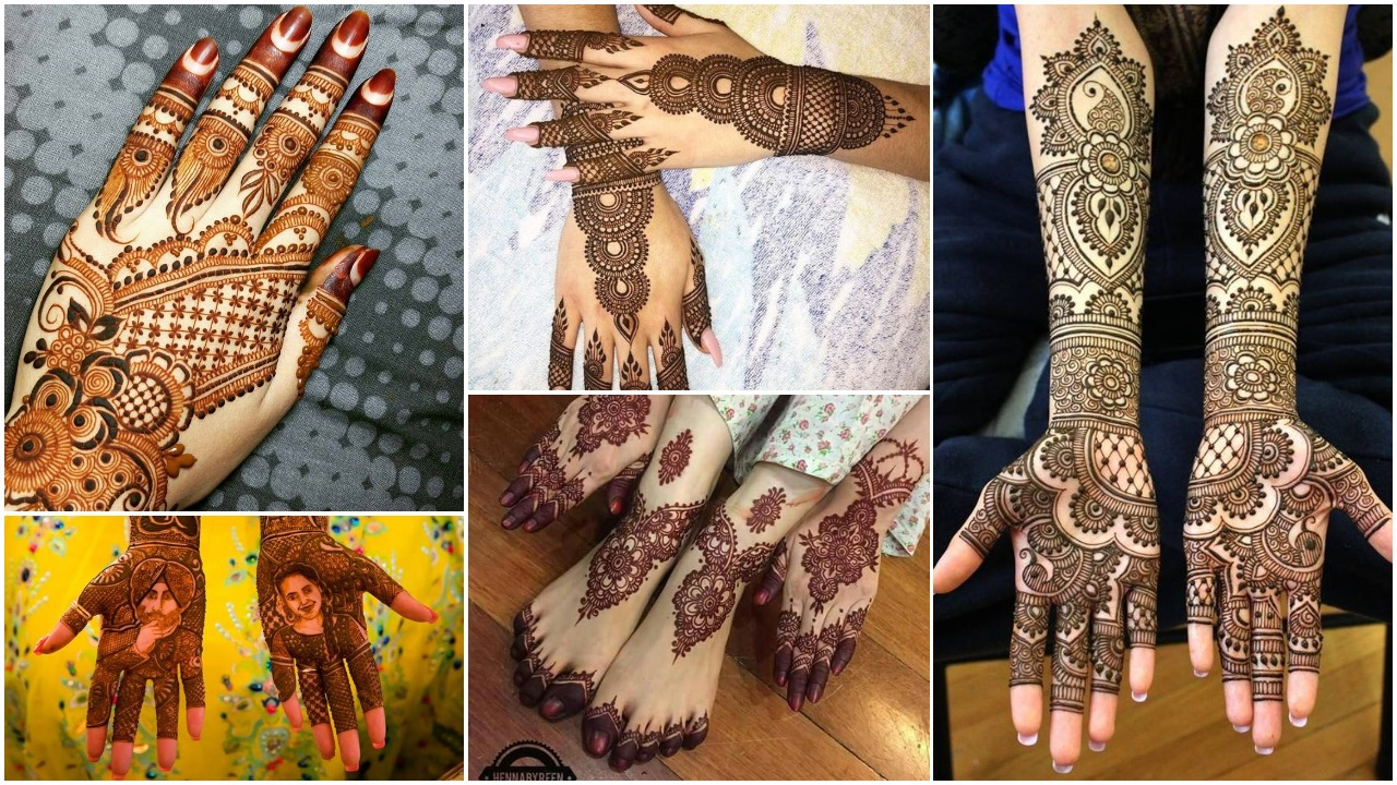 Different types of mehndi designs