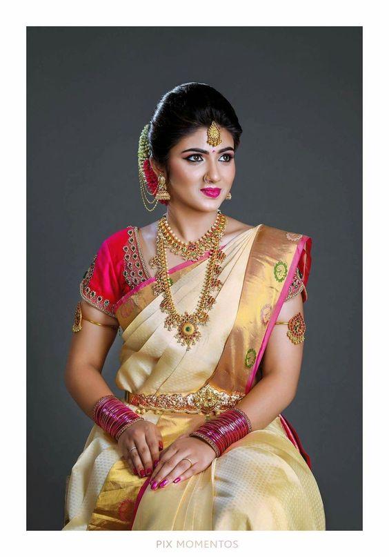 White Bridal Silk Saree