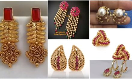 New light weight gold earrings designs