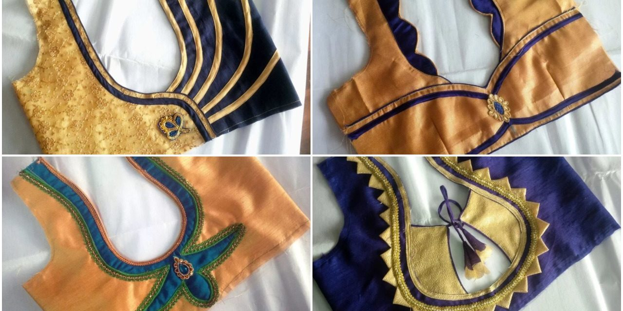 Blouse neck designs cutting and stitching
