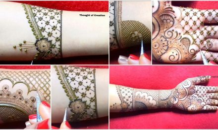 Simple stylish bridal mehndi design for hands