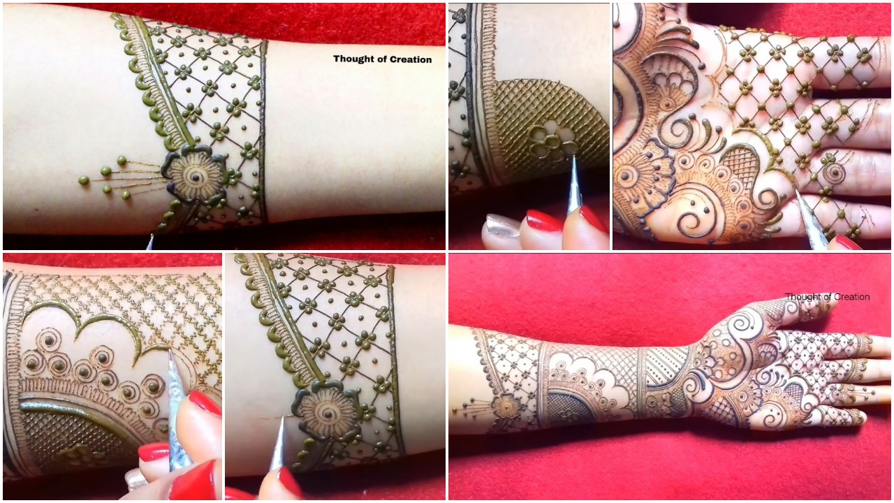 Simple stylish bridal mehndi