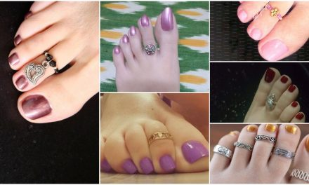 Stylish gold silver toe rings for women