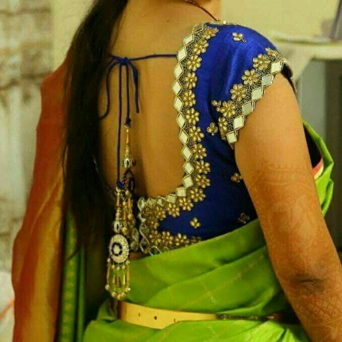 admired and attractive blouse designing