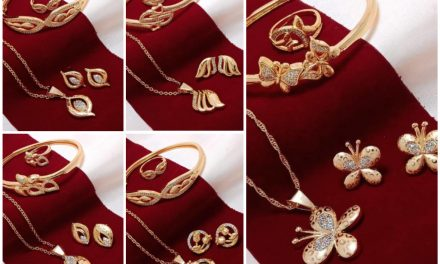 Chain with pendants bracelet ring and earring set