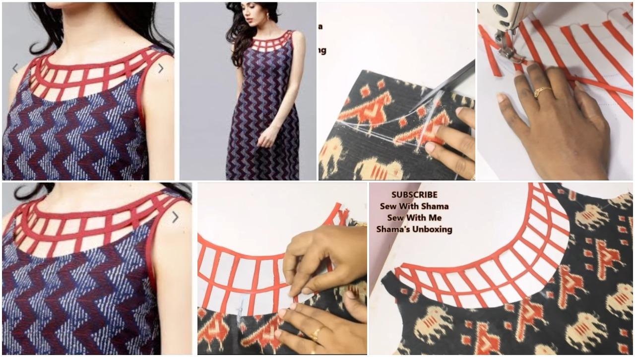Fashionable neckline design