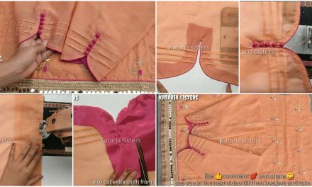Trending potli sleeves design making