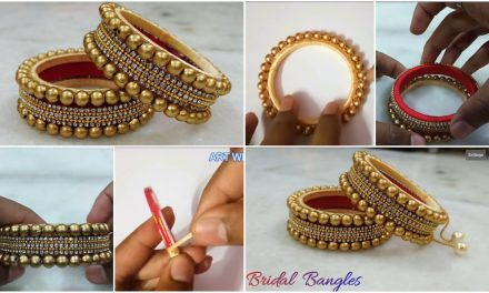 Silk thread bridal pearl stone bangle making