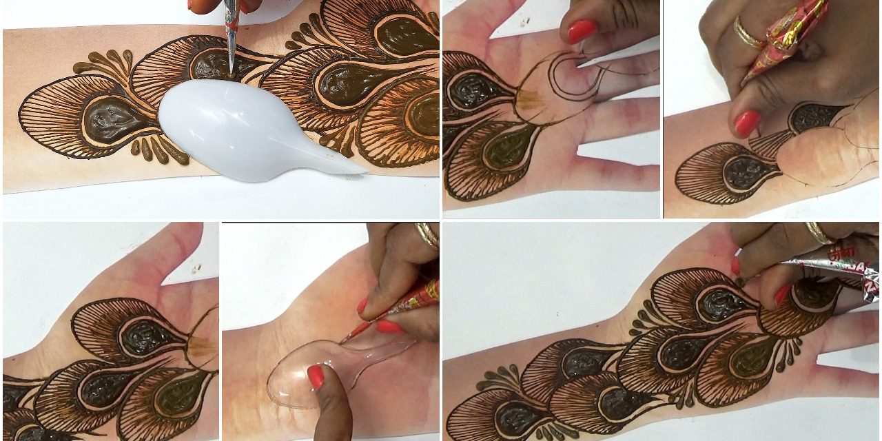 Latest trick mehndi design with spoon