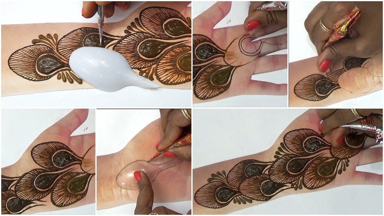 trick mehndi design with spoon