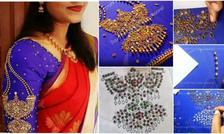 Unique traditional jewel design for blouse sleeve
