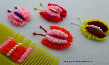 How to make double layer butterfly embroidery trick