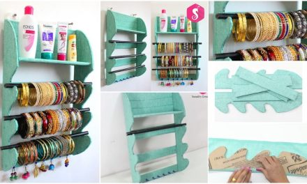 Homemade storage crafts from old materials